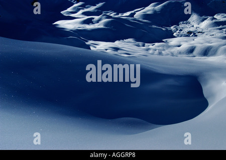 glistening snowflakes, Val Thorens, French Alps, France - Stock Photo