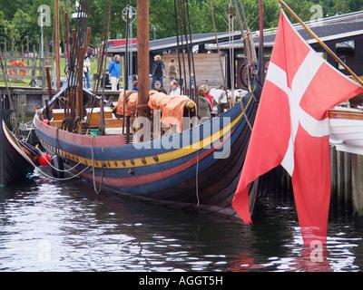 The Glendalough Sea Stallion Viking Ship at the Viking Ship Museum Roskilde North Zealand Denmark - Stock Photo