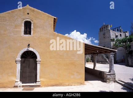 Panagia Anafonitria 15th century monastery St Dionysiossaid to have taken monastic vows here Zakynthos Ionian Islands - Stock Photo