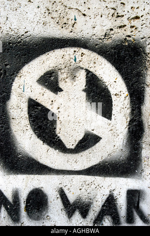 anti-war graffiti, Rome, Italy - Stock Photo