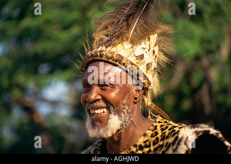 South Africa Simunye Zulu Chief - Stock Photo