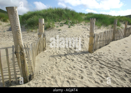 beach at Doogort on Achill Island, County Mayo, Republic of Ireland - Stock Photo