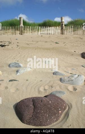 Rocks on beach at Doogort on Achill Island, County Mayo, Republic of Ireland - Stock Photo