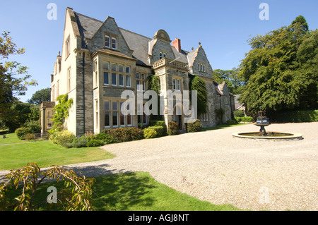 Rhosygilwen Country house mansion arts centre and concert hall Boncath Pembrokeshire west Wales UK - Stock Photo