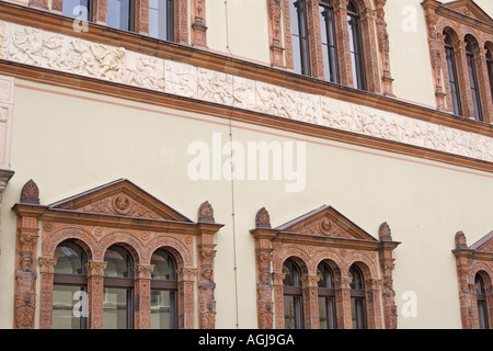 germany mecklenburg vorpommern facade of the district court in the old town of wismar - Stock Photo