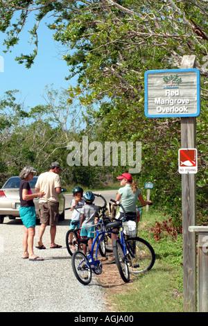 Sanibel Island SW Florida USA J J Ding Darling Wildlife Refuge visitors - Stock Photo
