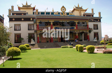 Golden Temple at the Tibetan refugee settlement camp in Bylakuppe India near Mysore. - Stock Photo