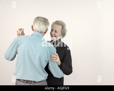Senior couple dancing - Stock Photo