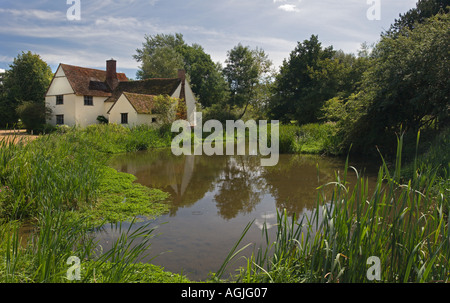 Willy Lott's cottage at Historic Flatford in Suffolk England - Stock Photo
