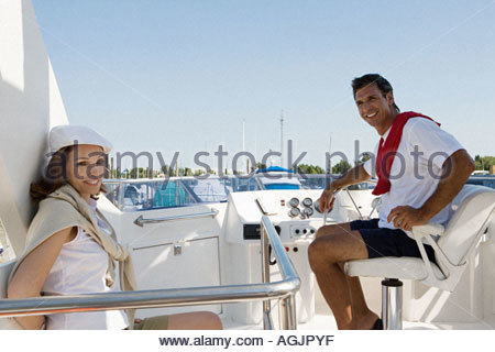 Couple on a yacht - Stock Photo