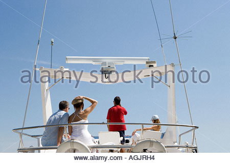 Friends on a yacht - Stock Photo