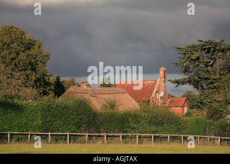 Breamore village after the storm The New Forest Hampshire England - Stock Photo