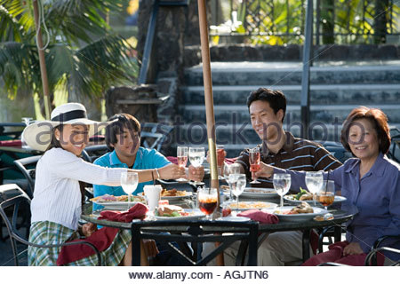 Family having a meal - Stock Photo