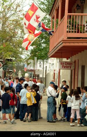 St Augustine Florida fl USA United States of America  ice cream parlour - Stock Photo