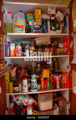 Over stocked larder in country home with teenagers dsc 0823 - Stock Photo