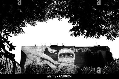 Germany, Berlin, 2007. Street art - Stock Photo