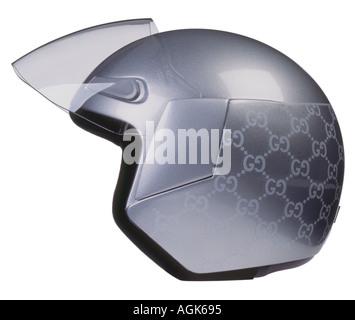 Gucci designed ladies crash helmet for motorcycles - Stock Photo