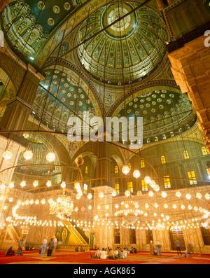 Interior of The Mosque of Muhammad Ali Pasha - Stock Photo