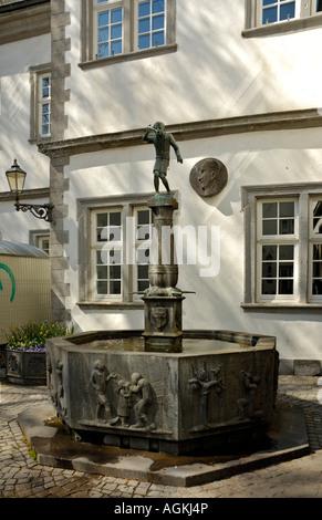 The 'Schaengel'fountain in Koblenz, Germany. - Stock Photo