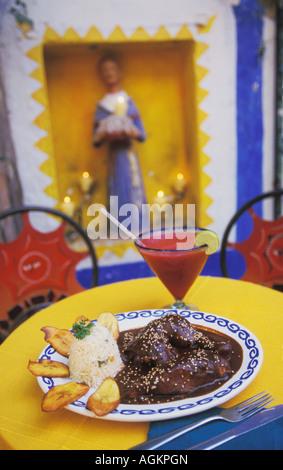Mole Poblano in restaurant in Cabo San Lucas located in Los Cabos in Baja California Mexico - Stock Photo