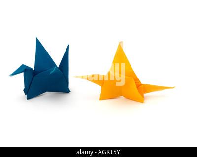 Origami Flapping Bird Stock Photo 14236132 Alamy