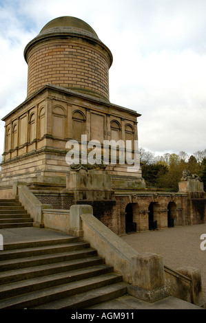 Hamilton Mausoleum Strathclyde Country Park Motherwell Lanarkshire Scotland - Stock Photo