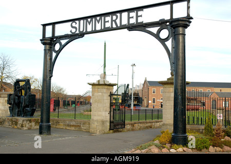 entrance to Summerlee Industrial Museum Coatbridge near Motherwell Lanarkshire Scotland - Stock Photo