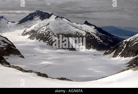 Aerial view of the Juneau Ice fields in Alaska, USA - Stock Photo