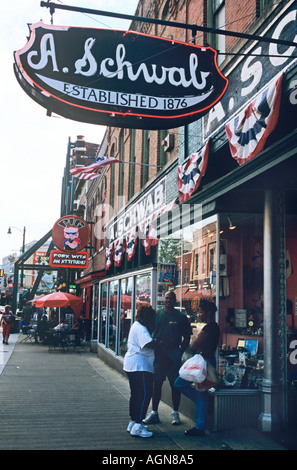 Schwab's, founded 1876, the renowned dime store on Beale Street, Memphis Tennessee