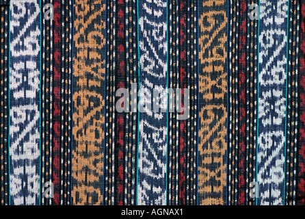Detail of ikat decorated skirt from Flores Nusa Tengarra Indonesia Southeast Asia - Stock Photo