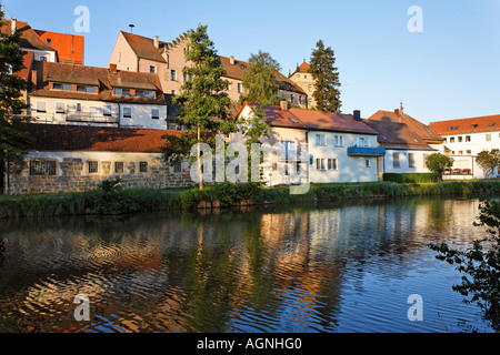 germany bavaria neunburg vorm wald old town with new palace stock photo 60405477 alamy. Black Bedroom Furniture Sets. Home Design Ideas