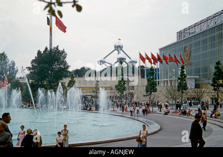 Russian Pavilion at Expo 58 Brussels, 1958 - Stock Photo