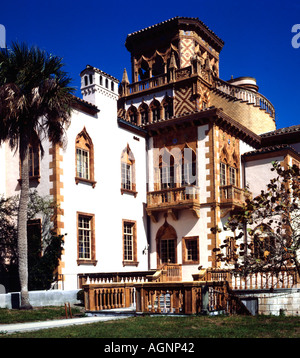 Ca D Zan Mansion at the John and Mable Ringling estate in Sarasota in Florida - Stock Photo