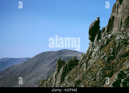 Sphinx Rock on Great Gable, Lake District National Park, Cumbria, England, UK. - Stock Photo