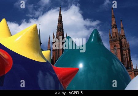 Art installation / Wiesbaden / Kunstinstallation - Stock Photo