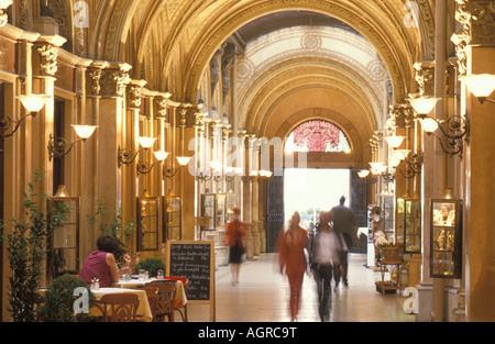 View of Freyung Passage at Palais Ferstel building at Freyung district in Vienna Austria - Stock Photo