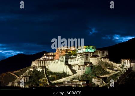 TIBET China Lhasa the sacred Potala Palace former seat of the Dalai Lamas - Stock Photo