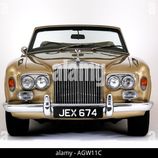 1975 Rolls Royce Corniche convertible - Stock Photo
