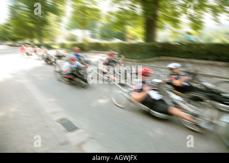 international wheelchair marathon Rollstuhlmarathon - Stock Photo