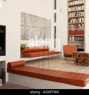 Double Height Living Room In Moonraker House Exmouth Devon Uk Stock Photo Royalty Free Image