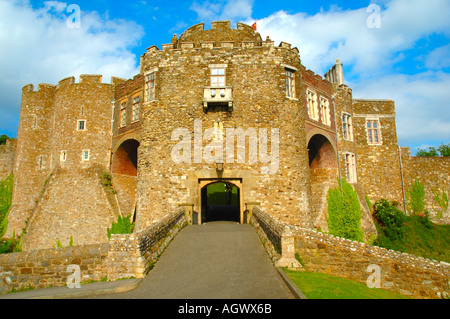 Gatehouse, Dover Castle, Dover, Kent, England, UK, GB. - Stock Photo
