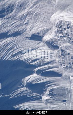 Wind blown snow. - Stock Photo