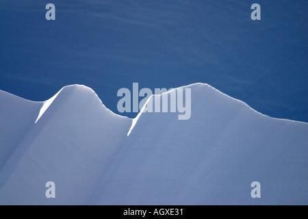 Wind blown snow ridge - Stock Photo