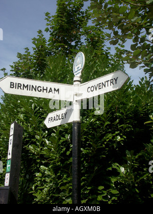 Direction Signpost Fazeley Junction 1 - Stock Photo