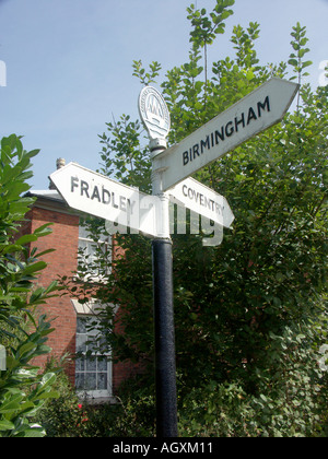 Direction Signpost Fazeley Junction 2 - Stock Photo