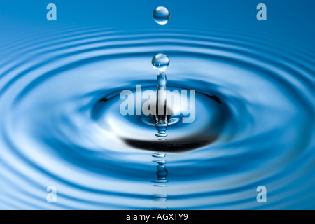 Water droplet. High speed photography - Stock Photo