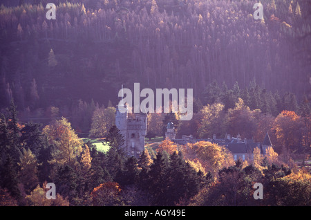 UK Scotland Aberdeenshire Grampian Royal Deeside Balmoral Castle Dee Valley - Stock Photo