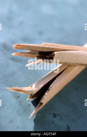 Broken crayon - Stock Photo