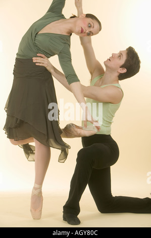 Ballet dancers in motion - Stock Photo