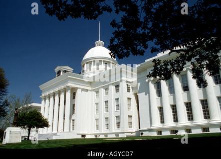 Montgomery Alabama State Capitol Building - Stock Photo